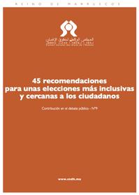 45 recomendaciones para unas elecciones más inclusivas y cercanas a los ciudadanos